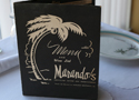 "The Marando's ""Black Menu"" was brought out on special occasions, such as New Year's Eve and wedding receptions."